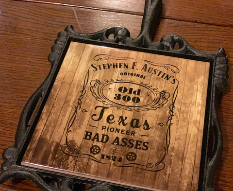 Texas Old 300 Cast Iron Trivet