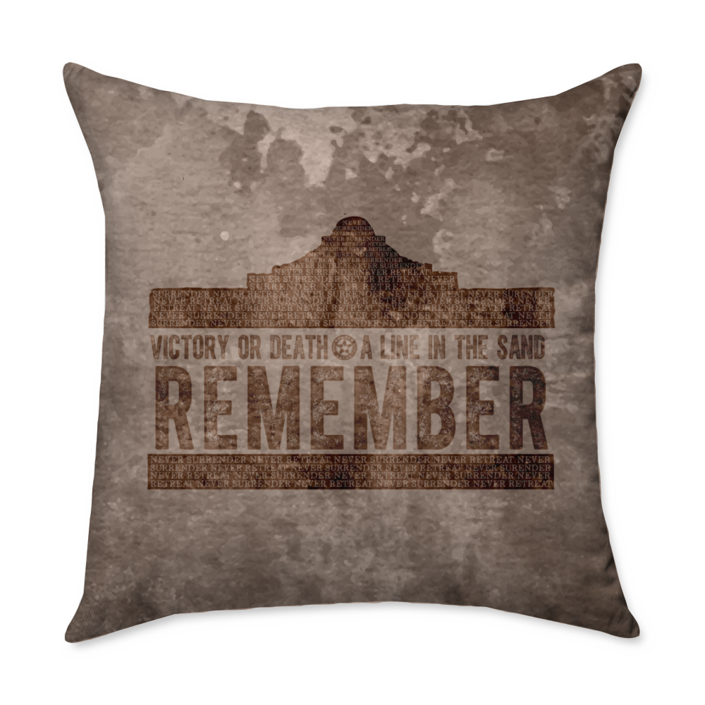 Remember the Alamo Throw Pillow
