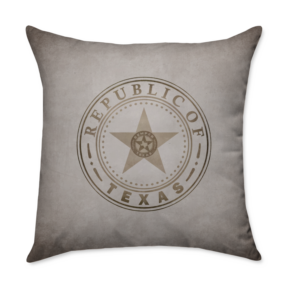 Seal of the Great Republic of Texas Throw Pillow