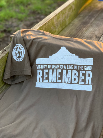 Alamo - Never Surrender, Never Retreat shirt