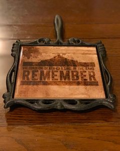 Remember the Alamo Cast Iron Trivet
