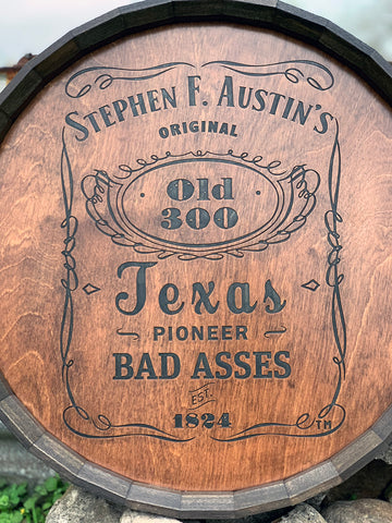 Austin's Old 300 Barrel Head