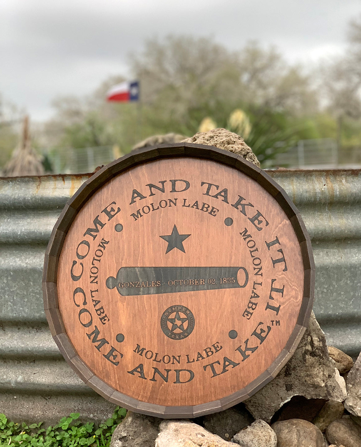 Texas Come and Take It Barrel Head