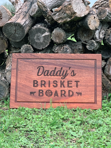 Daddy's Brisket Board - Mahogany cutting board