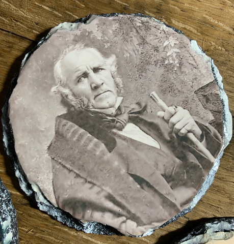 Sam Houston on Slate (set of 4 coasters)