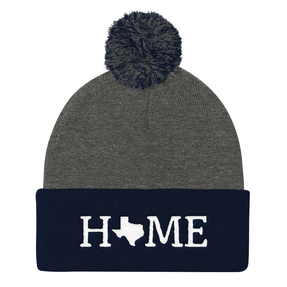 Texas Is My Home pom beanie