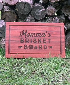 Momma's Brisket Board - Mahogany cutting board