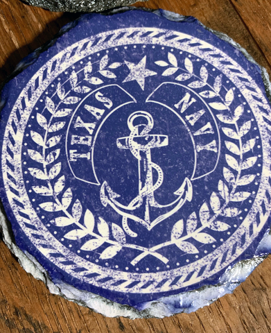 Texian Navy Slate Coasters (set of 4)