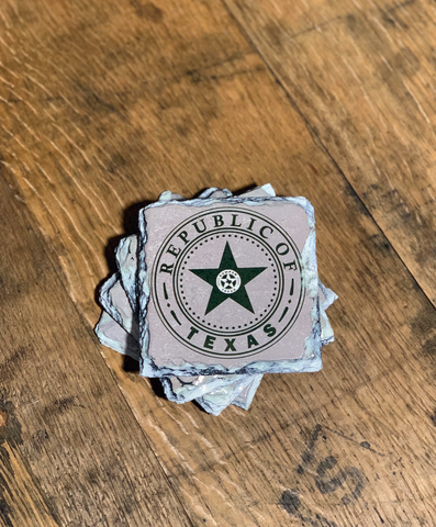 Republic of Texas Slate Coasters (set of 4)