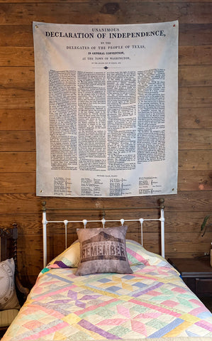 Huge Texas Declaration of Independence Wall Hanging
