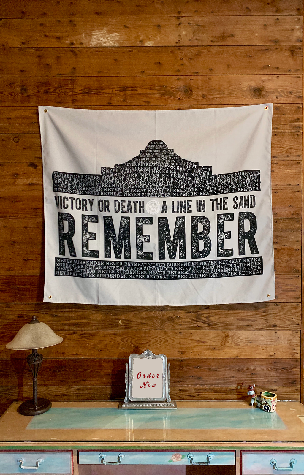 Remember the Alamo Large Wall Hanging