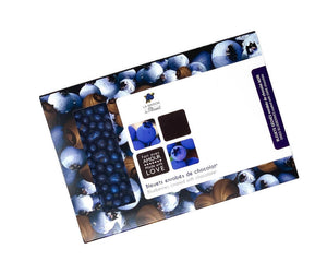 Wild blueberry pearls coated with 70% dark chocolate