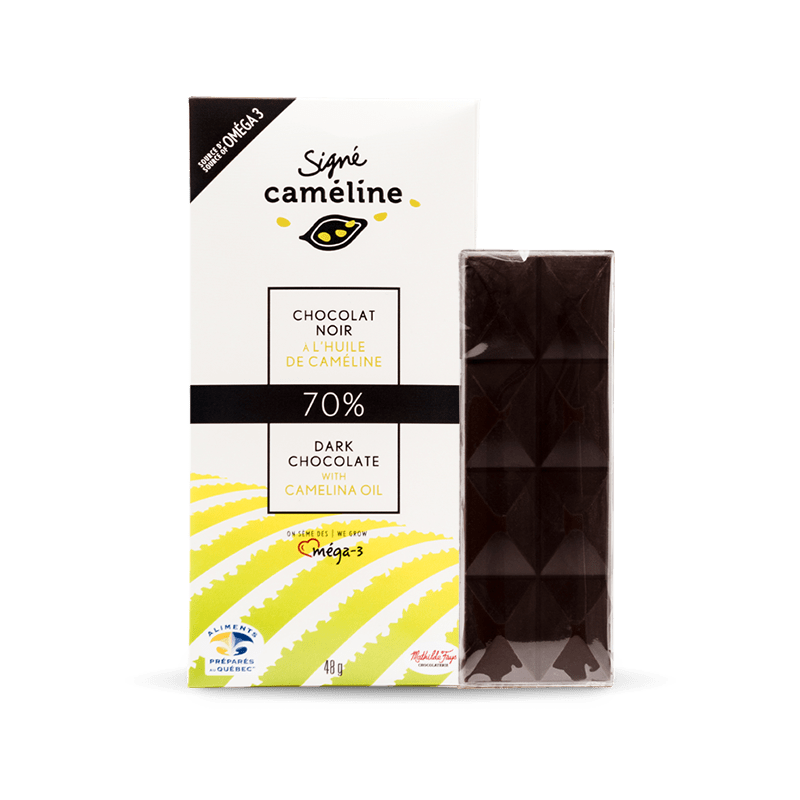 70% Dark chocolate with camelina oil