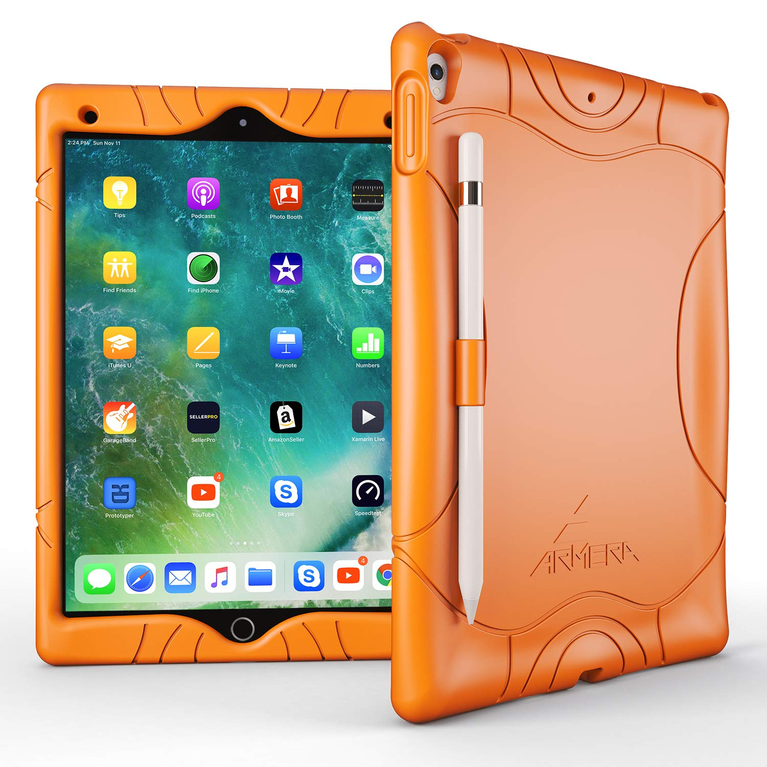 on sale f502b 32ccd Apple iPad Pro 10.5 2017 Silicone Case (iPad A1701/A1709) [Pencil Holder  Edition]