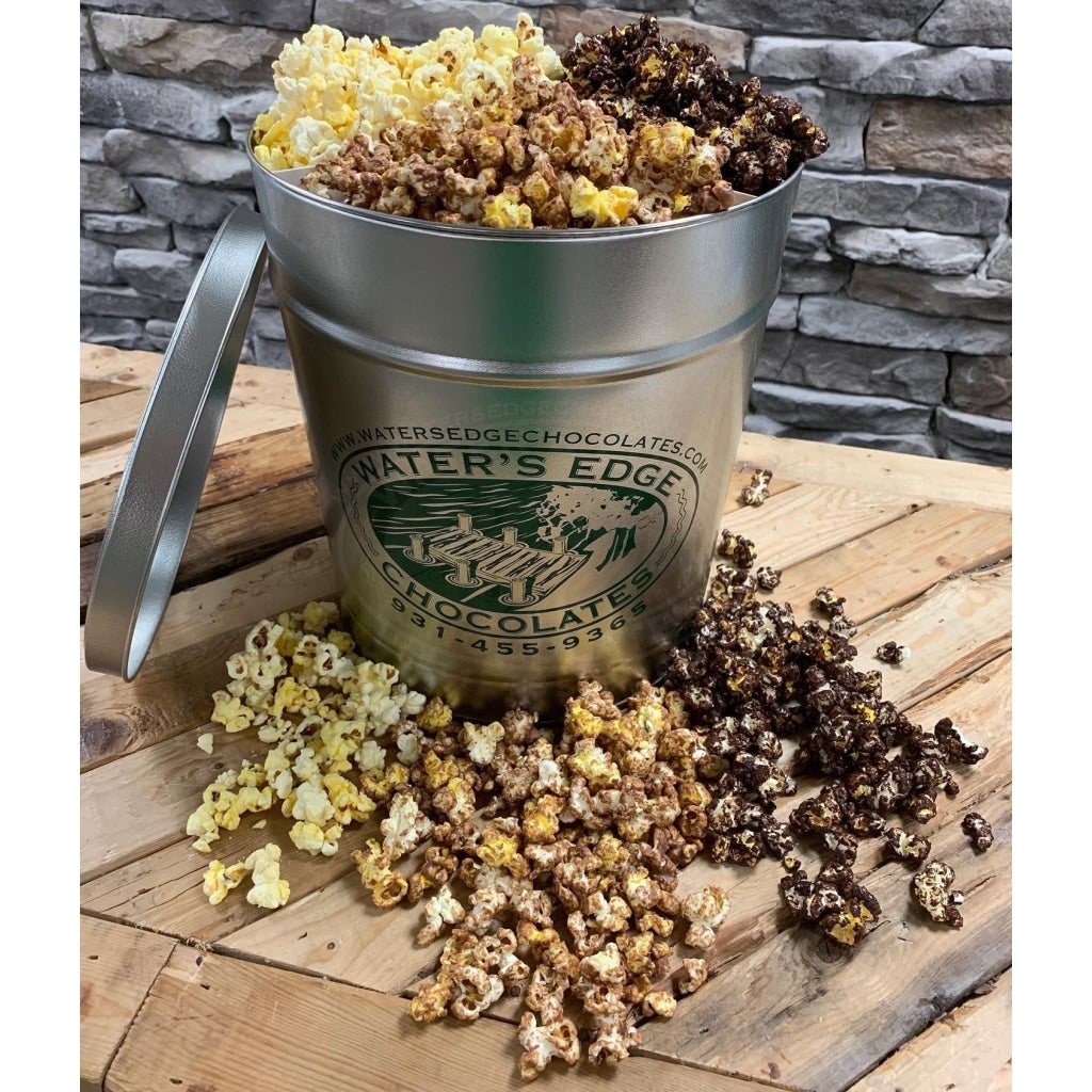 Chocolate Covered Popcorn Tin