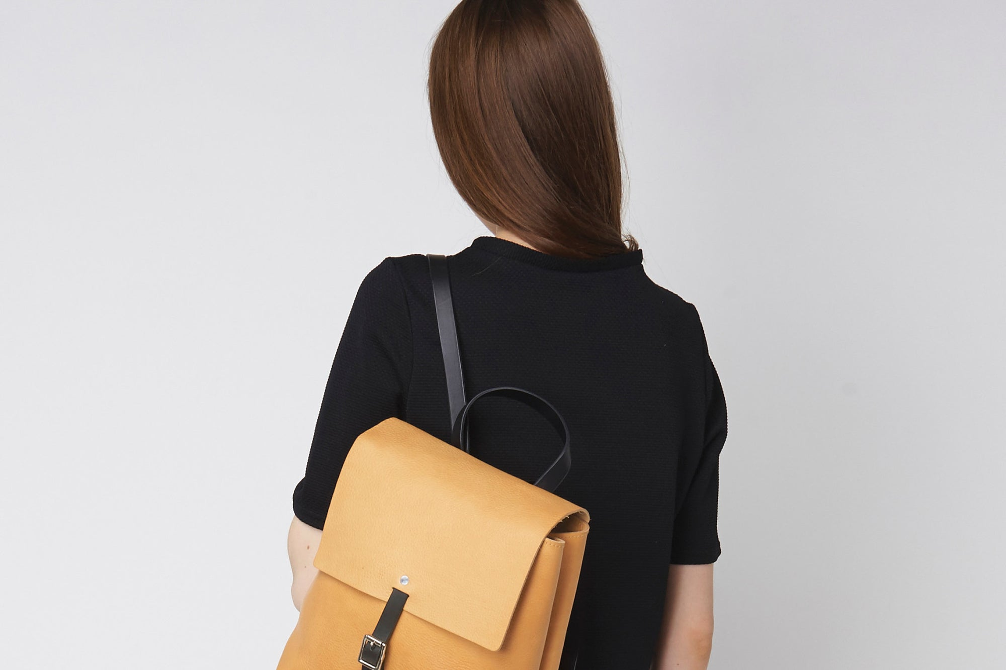 Preview: Tan Buckle Backpack