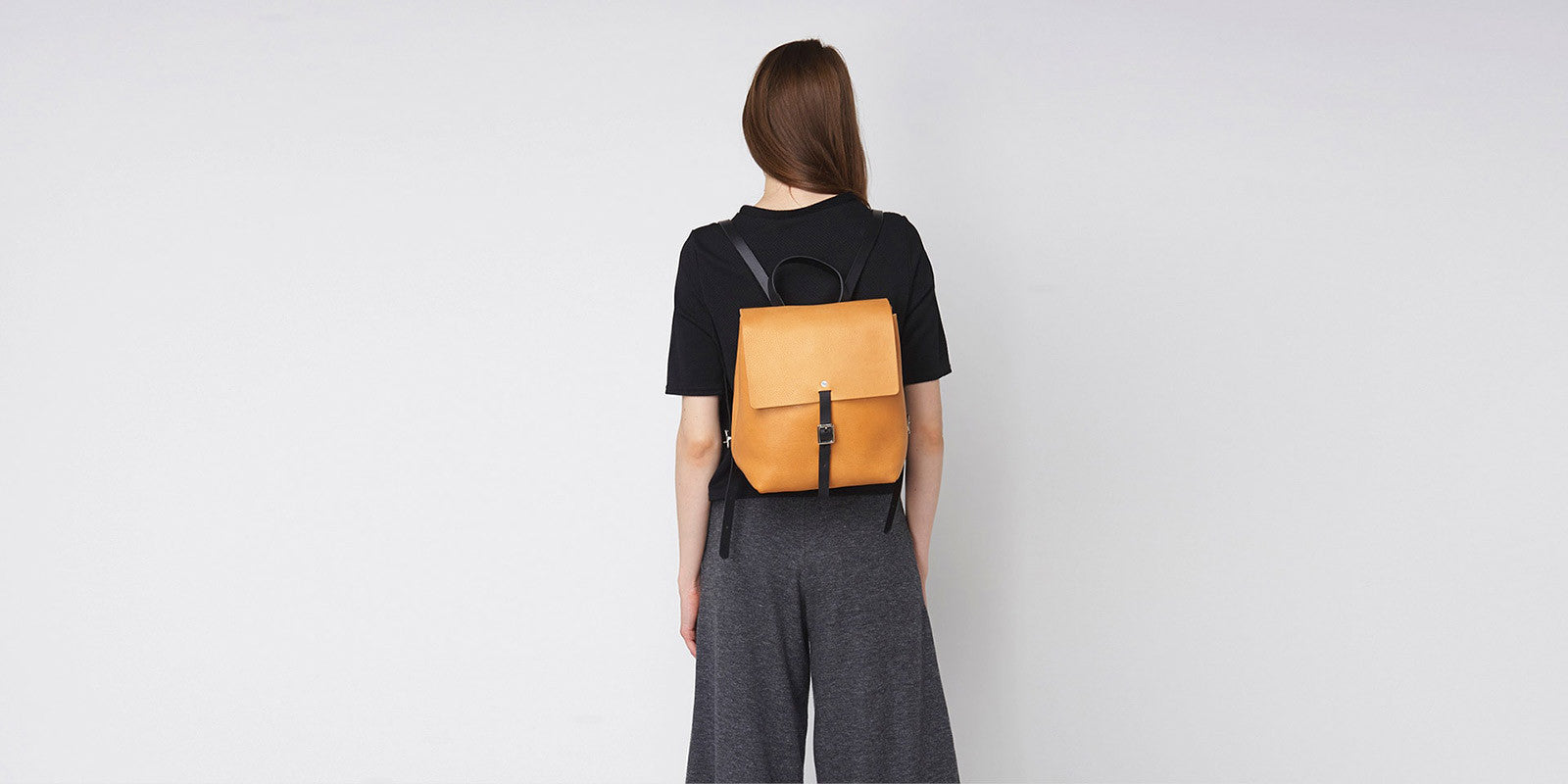 Small Buckle Backpack - Tan Slide 1