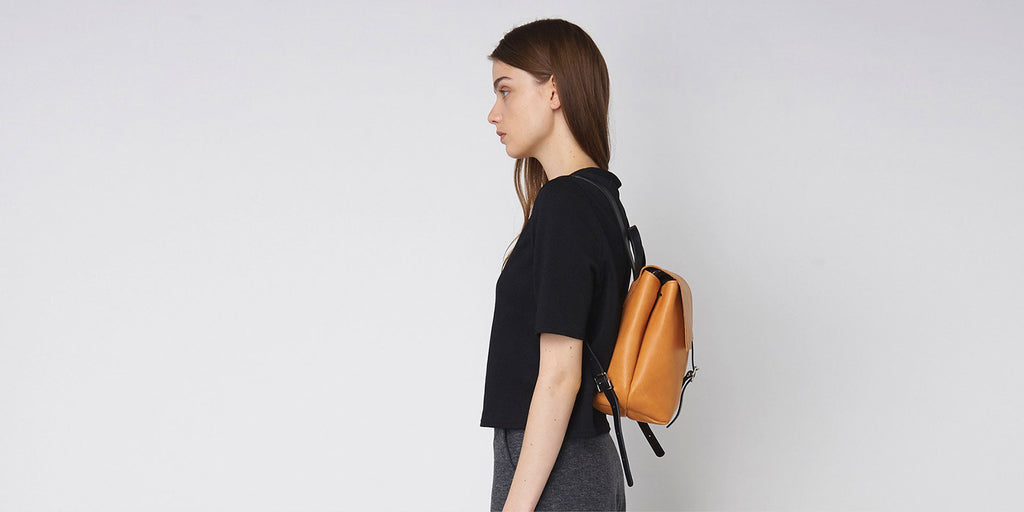 Small Buckle Backpack - Tan Slide 3