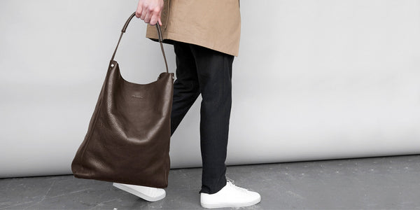 Slouchy Tote - Brown Slide 2