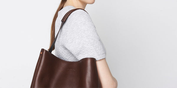 Slouchy Tote - Brown Slide 3