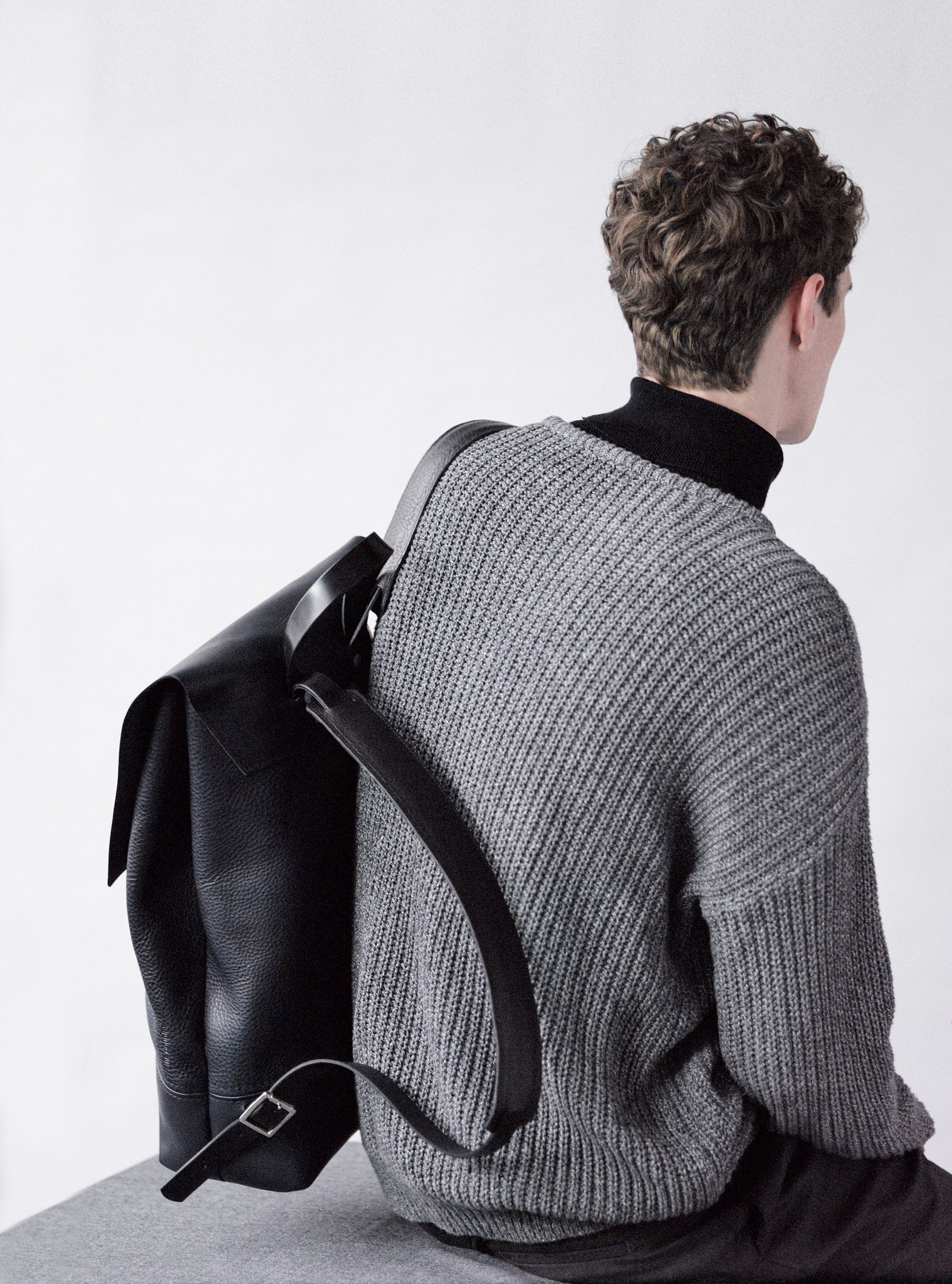 Alfie Douglas leather backpack handmade in england london