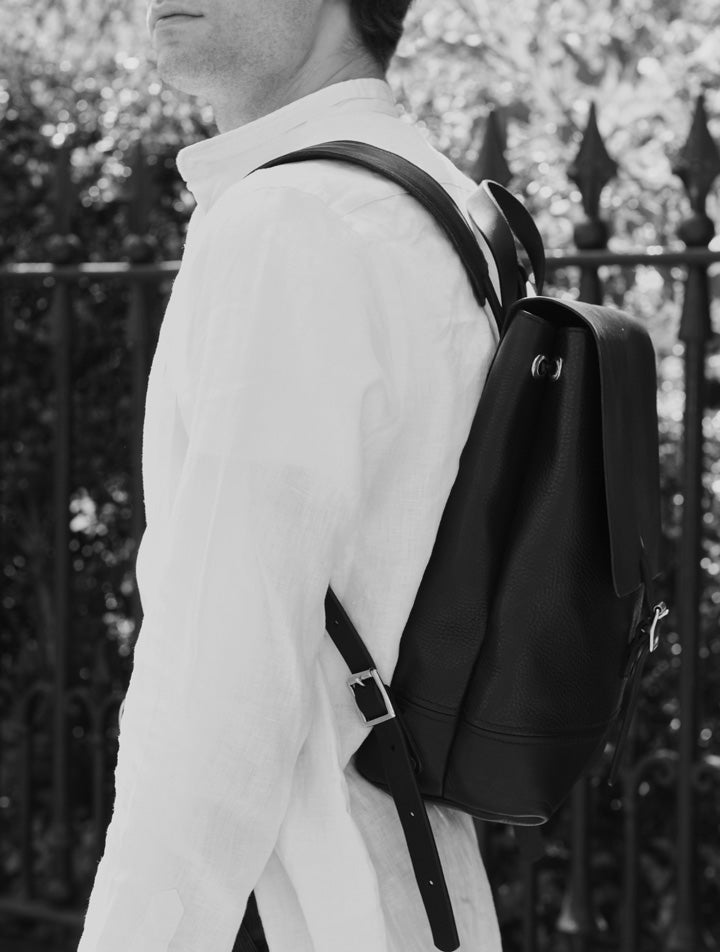 Alfie Douglas leather backpack handmade in London