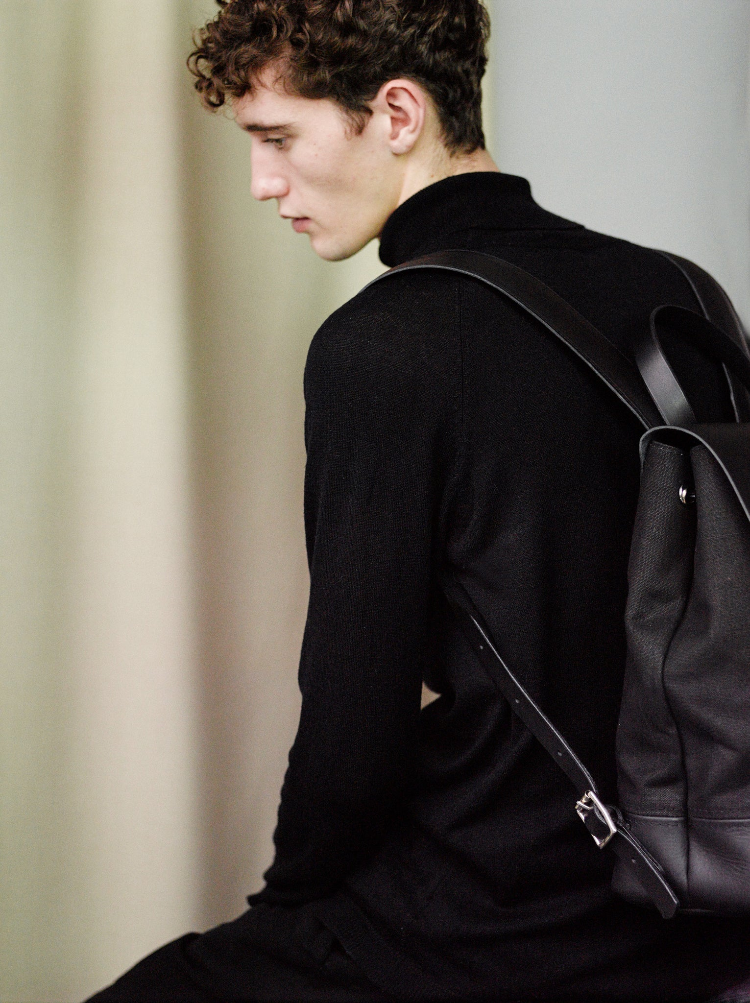 Alfie Douglas leather canvas handmade in england london backpack