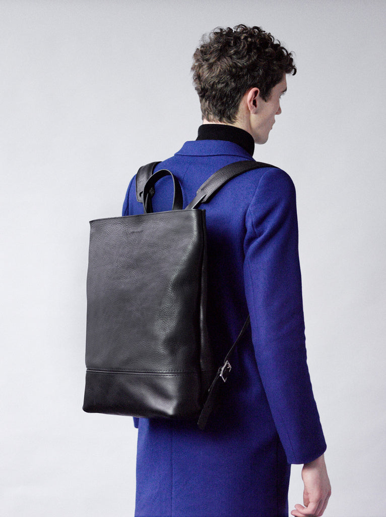 Alfie Douglas leather backpack handmade in england