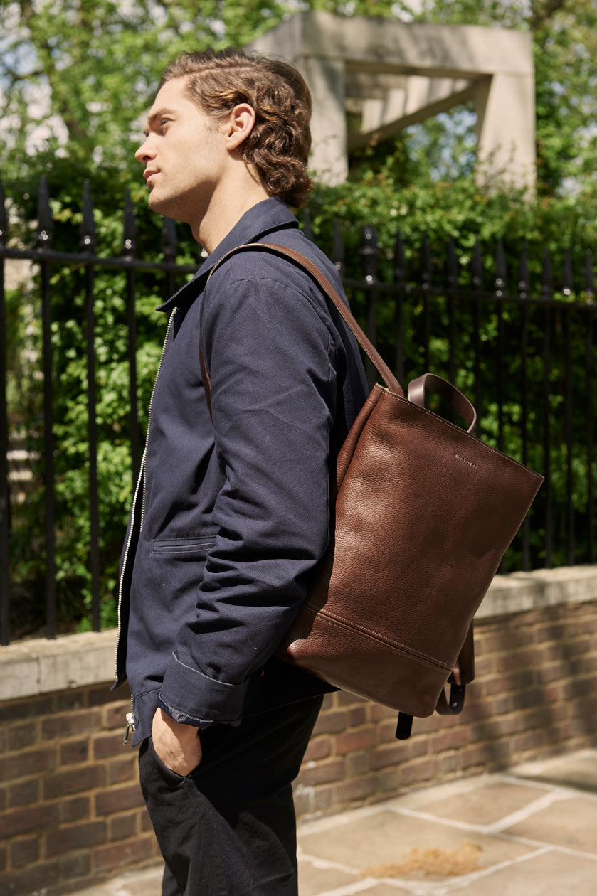 Alfie Douglas Minimal Leather backpack handmade in London