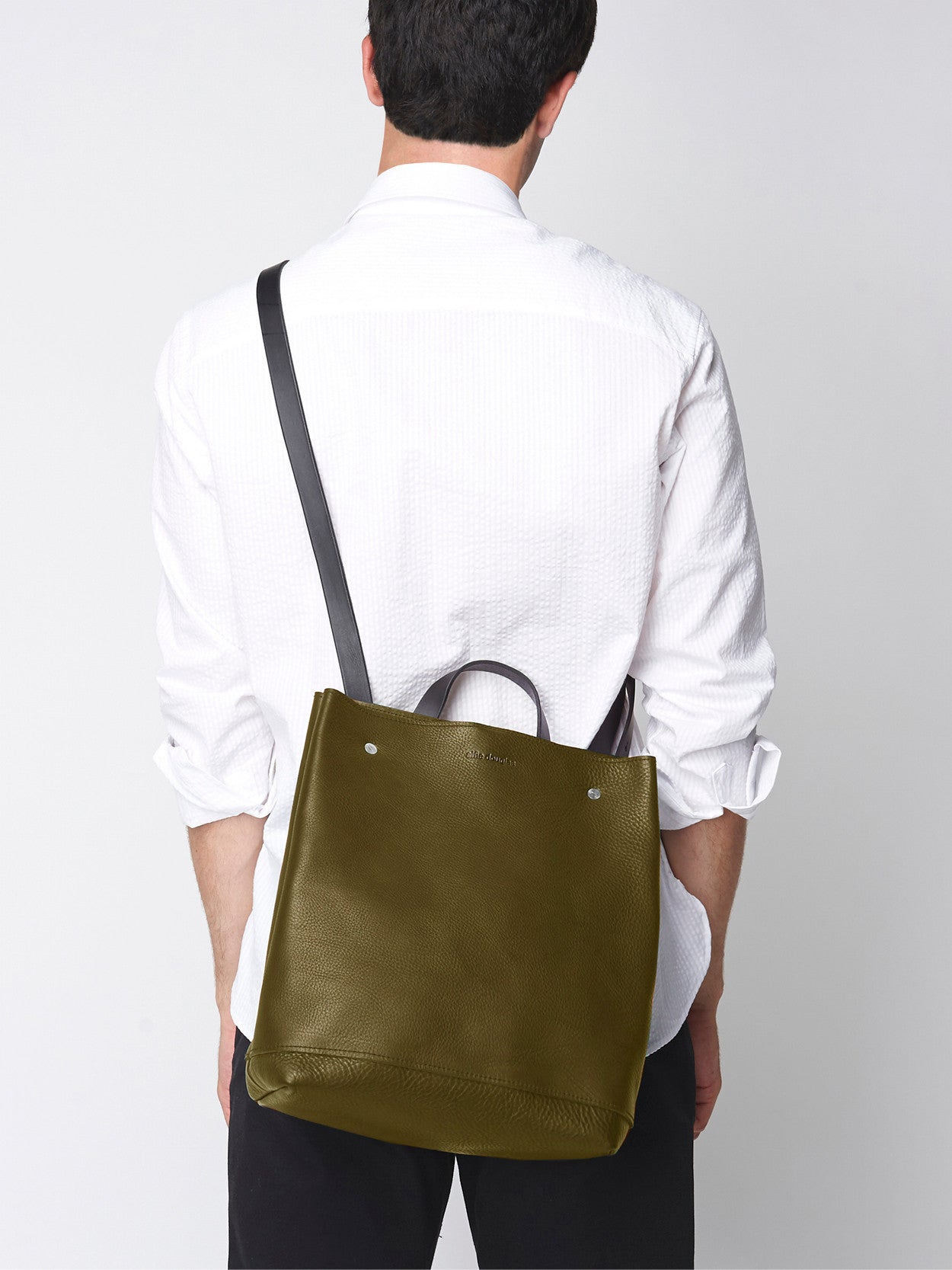 Alfie Douglas Handmade in England leather convertible shoulder bag and backpack