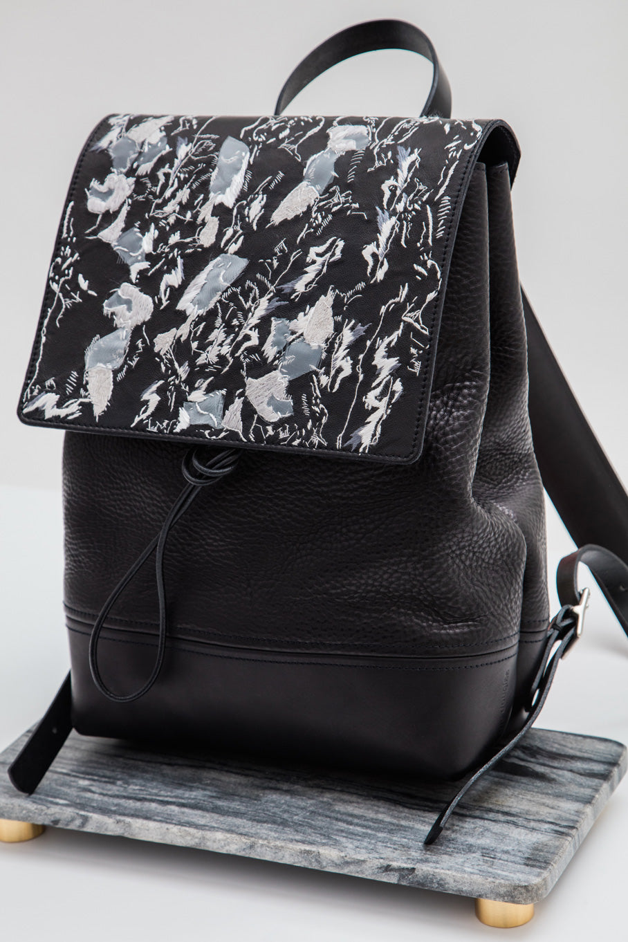 Alfie Douglas leather backpack hand and lock