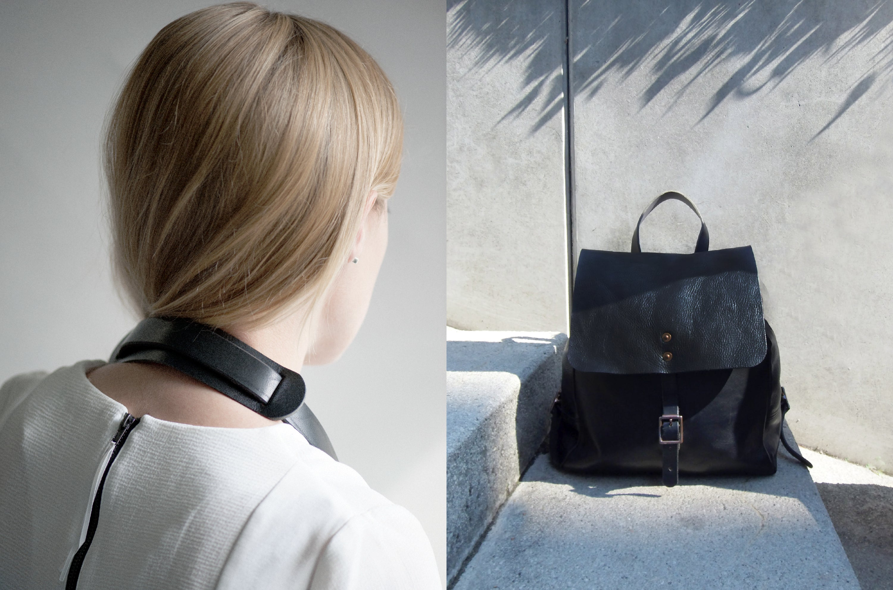 Alfie Douglas leather bag editorial