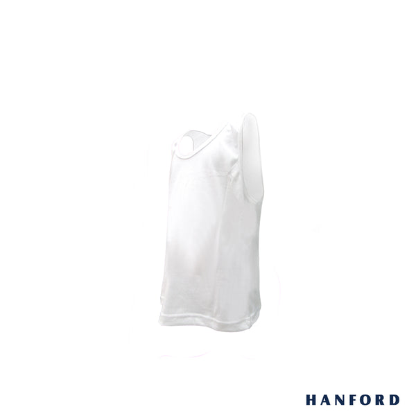 Hanford Kids Regular Tank Single Jersey - White (Single Pack)