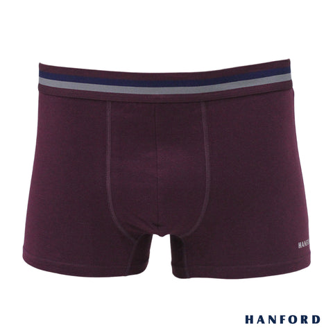 Hanford Mens Cotton w/ Spandex Boxer Briefs Rufus - Fig (Single Pack)