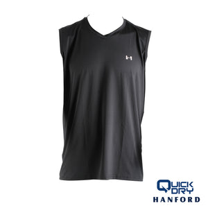 Hanford Men's Athletic V-Neck Sleeveless Shirt (Single Pack)