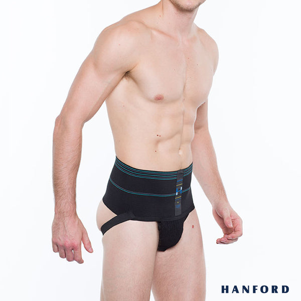 Hanford Athletic Mens Supporter 6inches - Black (Single Pack)