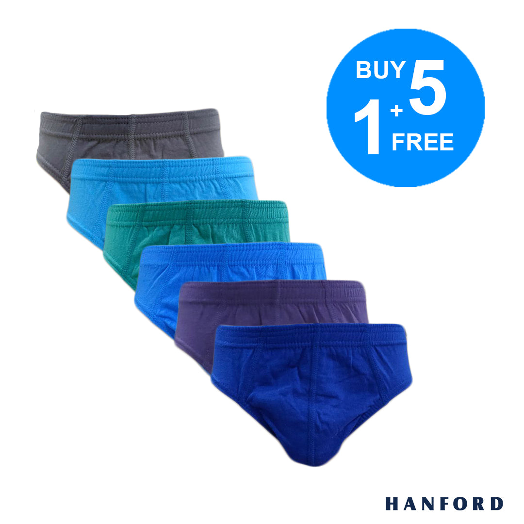 Hanford Mens Premium Class Briefs - White (3in1 Pack)