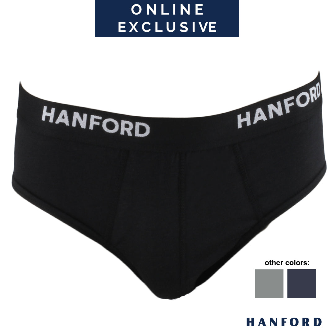 Hanford Mens Regular Briefs OG Prime - Black (1PC/Single Pack)