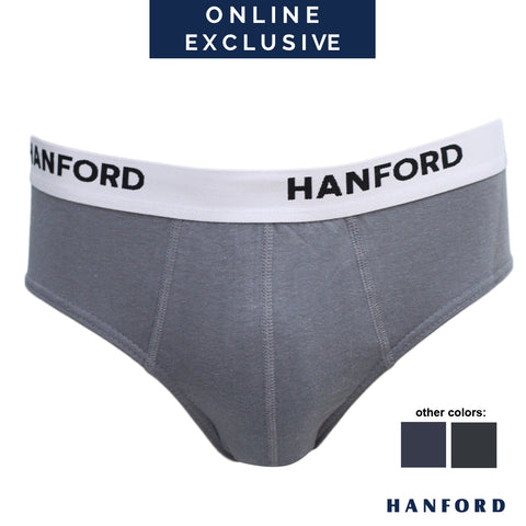 Hanford Mens Regular Briefs OG Prime - Steel Gray (1PC/Single Pack)