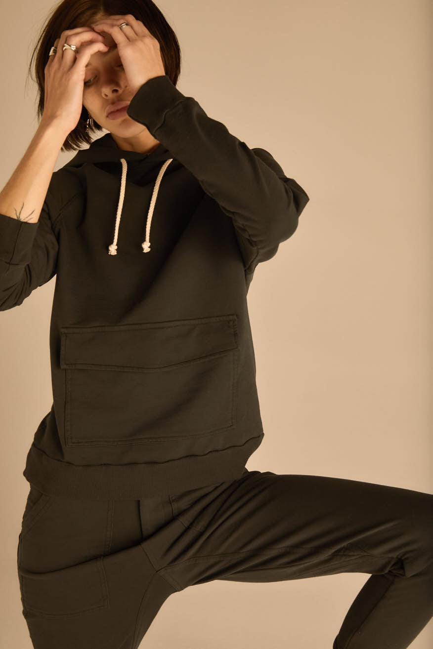 The Charcoal Brixton Hoodie