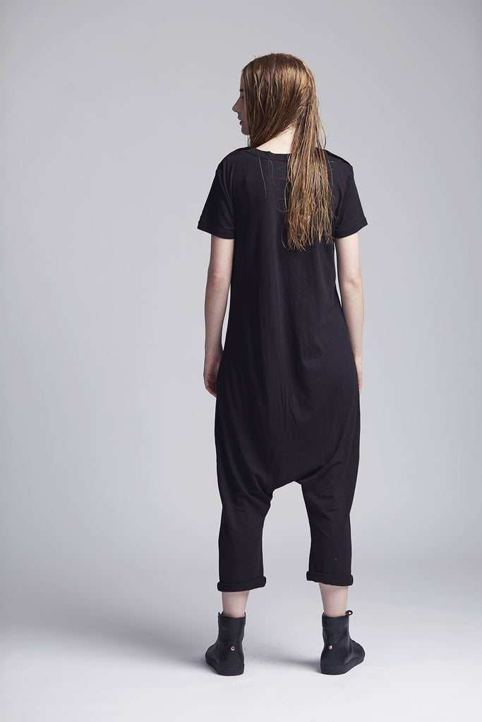 Black T-Shirt Jumpsuit