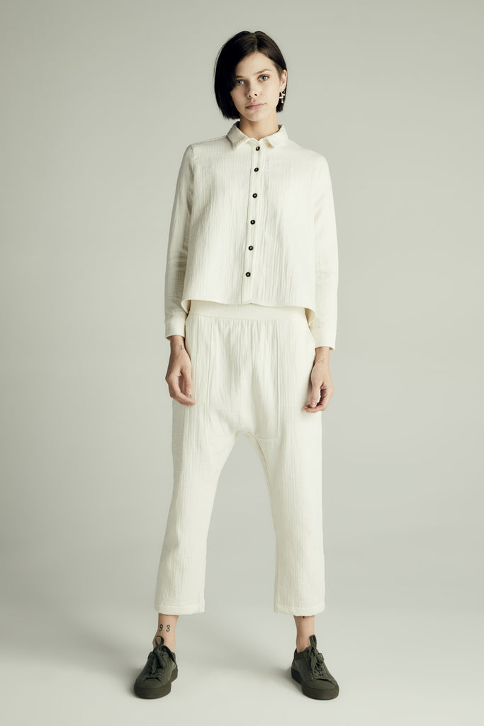 The Lane Button Up Cream