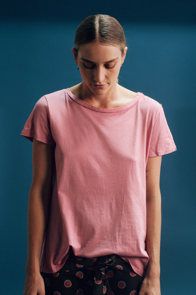 Faircloth Supply Relaxed Tee Rose Gender Neutral Sustainable Fashion T-Shirt Top