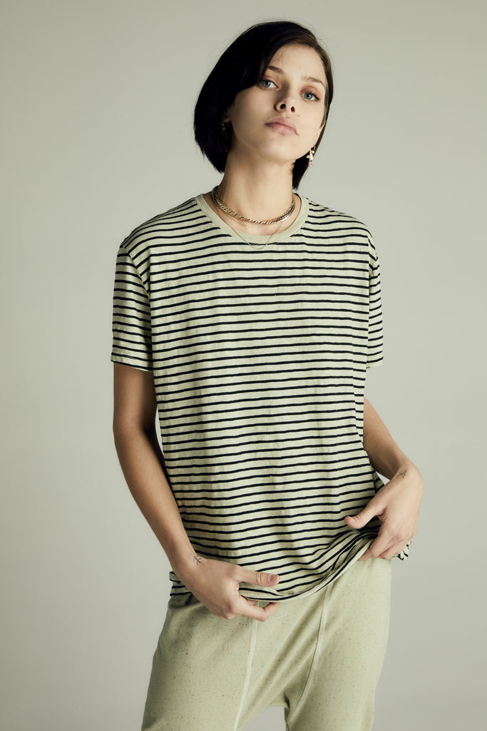 The Striped Green Tee