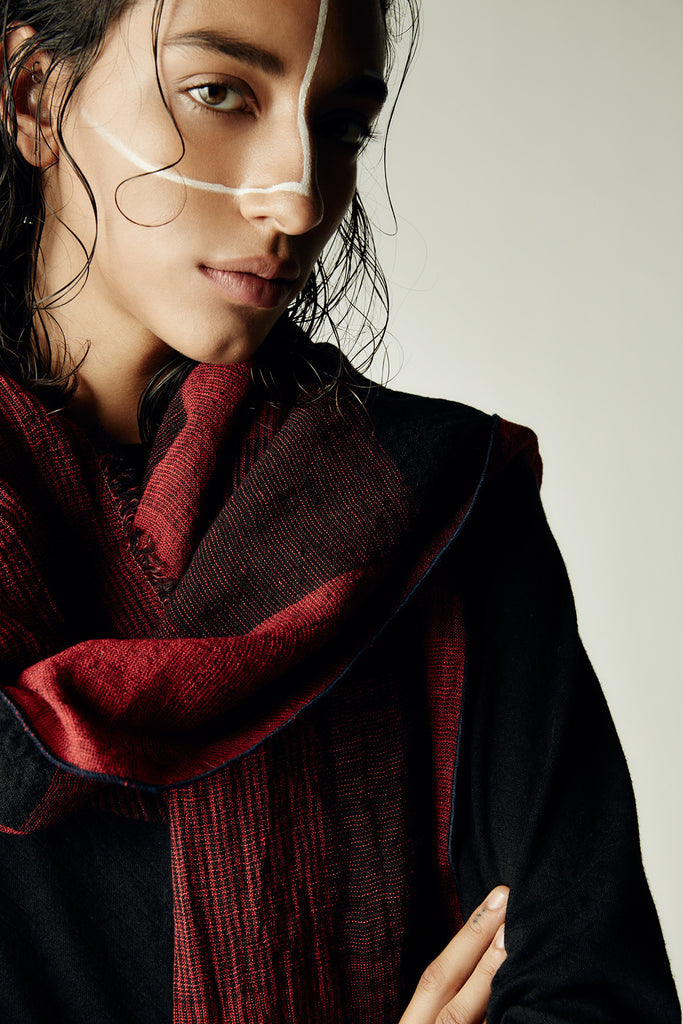 Crimson Plaid Scarf
