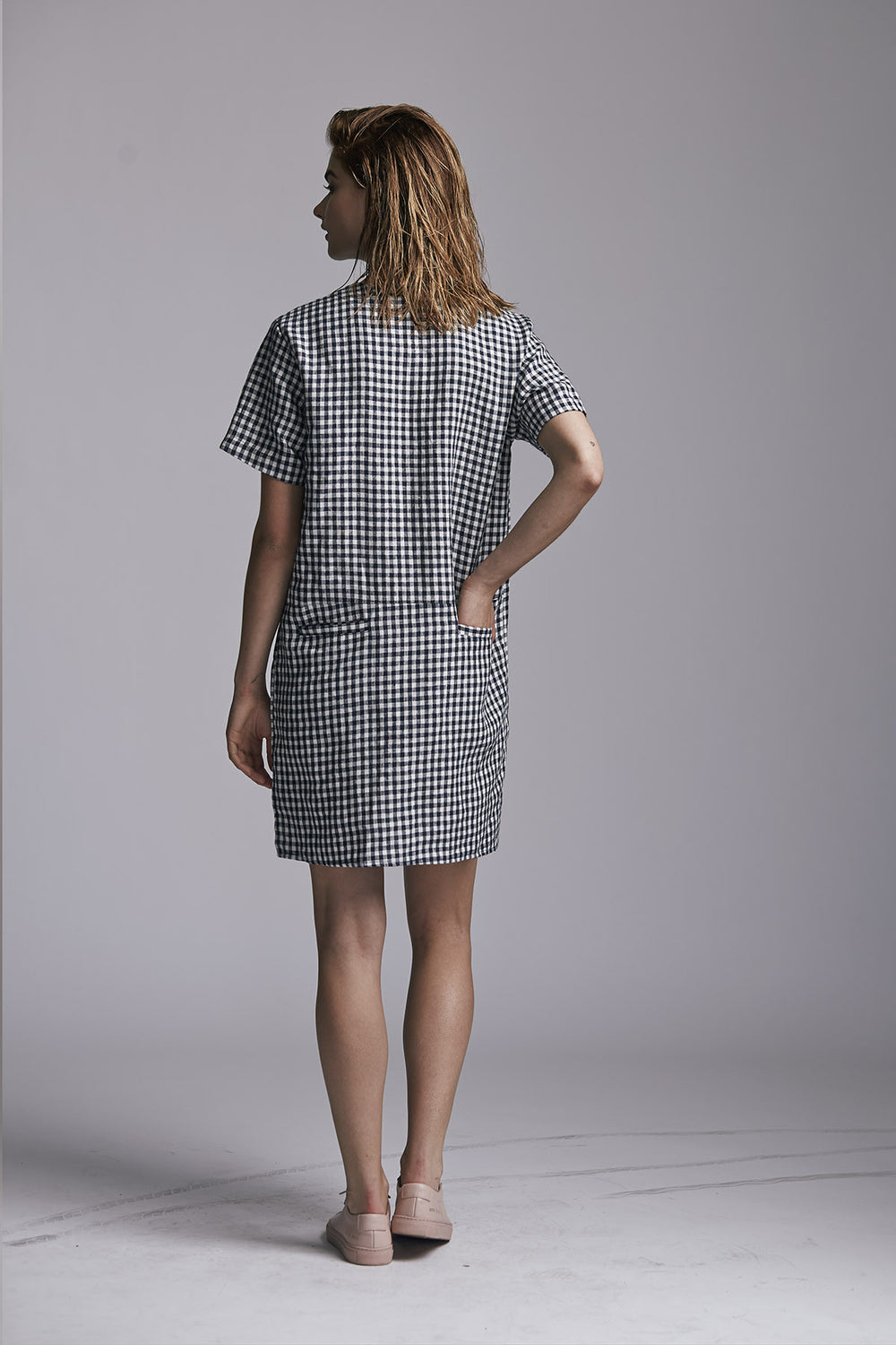 Pepper Dress Navy Plaid