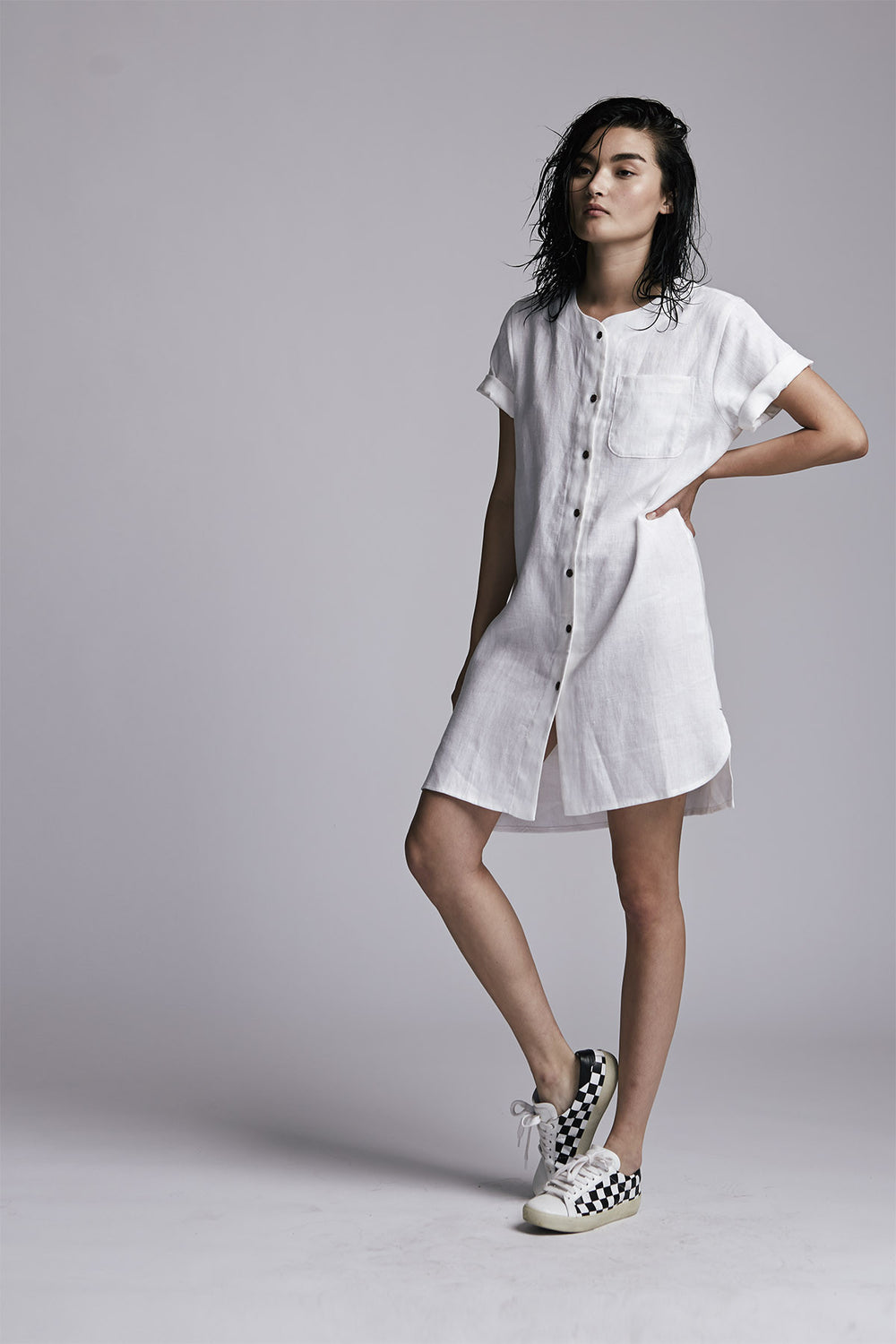 Pepper Dress Paper White