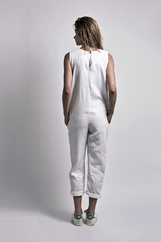 Mill Jumpsuit Paper White