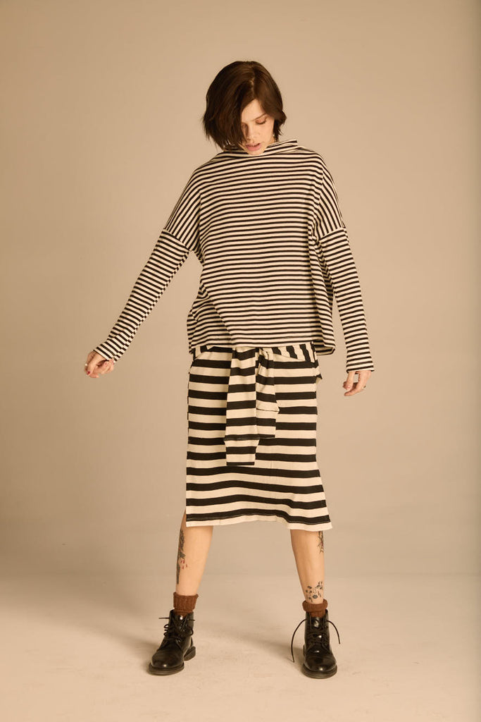 The Stripe Cross Skirt