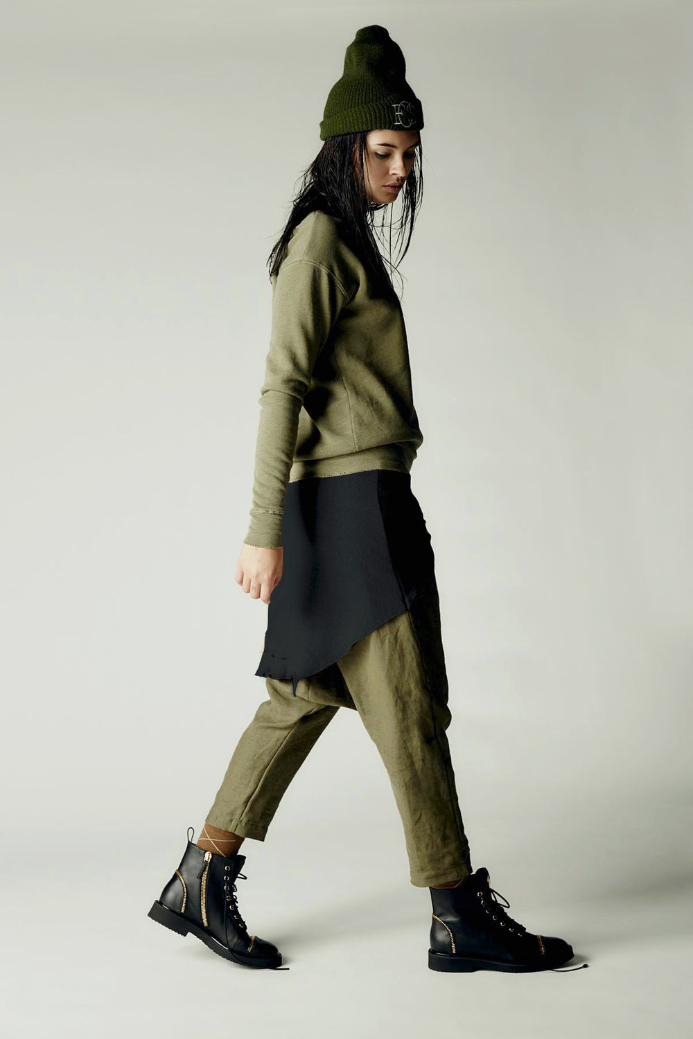 Tied Up Pant Army Green